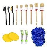 14PCS Auto Detailing Brush Set, Car Motorcycle Cleaner Brush Set for...
