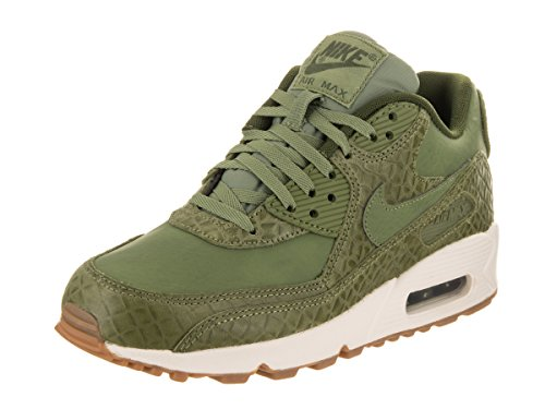 Nike Women's Air Max 90 Prem Green Leather Running Shoes 7.5