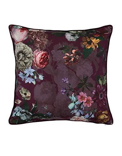 ESSENZA Dekokissen Quadratisch Fleur Blumen Pfingstrosen Tulpen Polyester Rot, 50x50 cm