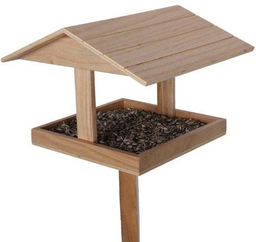 Vogelfutter Haus Vogelhaus mit Futterspender und Ständer 131cm Modell ELECSA 1341