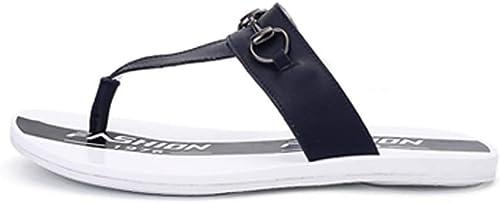 KTOL Sandales De Plage, Cuir Casual Tongs Hommes Anti-dérapant Chaussures De Plage & Piscine Mixte Adulte Style De Personnalité été Piscine Seaside