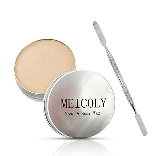 Meicoly Fake Wound Skin Wax Scar Body Paint Special Effects Halloween Set Stage Makeup, 02