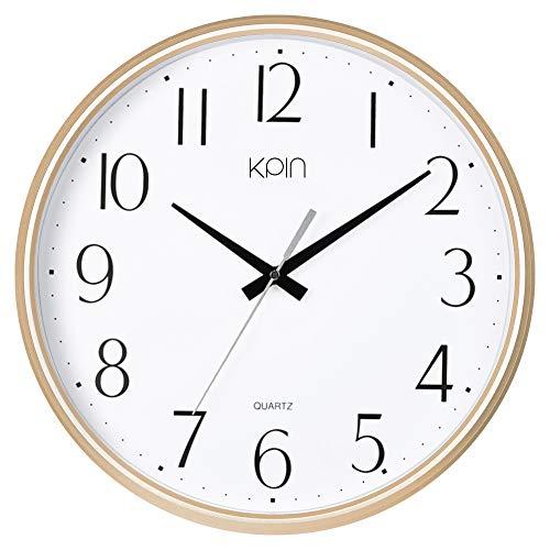 Kpin 13 Inch Large Non Ticking Silent Wall Clock Decorative,...
