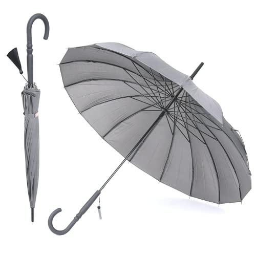 Orientalischer Pagode Regenschirm Damen Hochzeit Brautschirm mit 16 Paneelen und breitem Baldachin