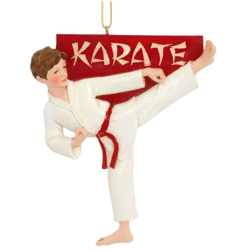 Kurt Adler Karate Boy Christmas Ornament
