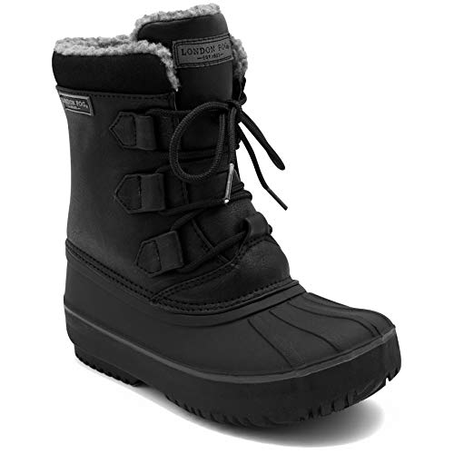 LONDON FOG Boys Cheshire Cold Weather Snow Boot Black 11