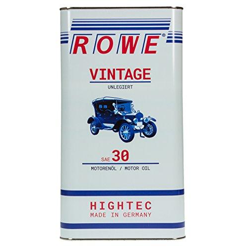 ROWE HIGHTEC VINTAGE SAE 30 UNLEGIERT, 5 Liter