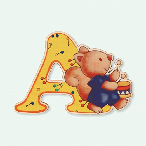 Dida - Lettre A Bois Enfant - Lettres Alphabet Bois pour Composer Le nom de Votre bébé et décorer la Chambre
