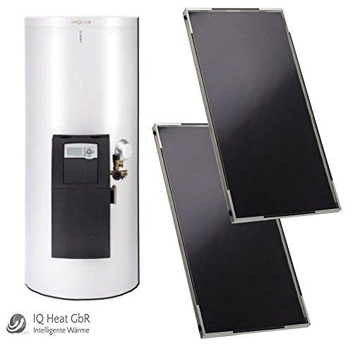 Viessmann Solaranlage Paket Trinkwassererwärmung Vitosol 100-FM, Vitocell 100-W und Vitosolic 100 Typ SD1