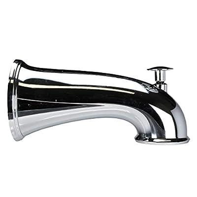 DANCO Decorative Bathtub Faucet Spout with Pull Up Diverter | 6 Inch Length | Chrome Finish (10315)