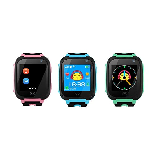 Oberlo V6 Smart Children Baby Watch Tracker Camera Anti Lost (Pink with GPS/United States)