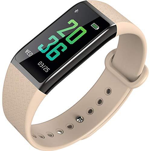 Rastreador de actividad, ritmo cardíaco, presión arterial, podómetro, reloj inteligente, multifuncional, IP67, resistente al agua, oro