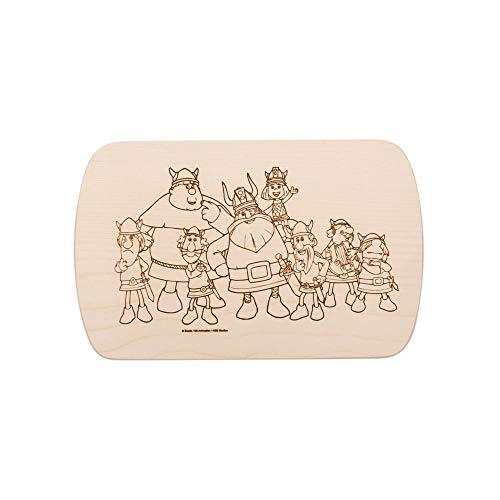 Brink Holzspielzeug Frühstücksbrettchen Frühstücksbrett Wickie und die starken Männer mit kostenloser Gravur Vesper Holz Namen Brett neu