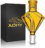 ADMY Shisha atrapasueños diamante, oro 18/8 pulido, accesorio preenfriador de cristal grueso, accesorio universal Hookah para la mayoría de las pipas de agua, fácil de limpiar.
