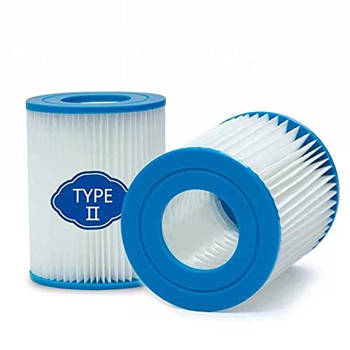 woejgo Bestway - Filtro para piscina tipo 2, cartucho de filtro para bomba de piscina Bestway 58094, cartucho de filtro Flowclear tipo II, capacidad: 2006 3028 l h (2 unidades)