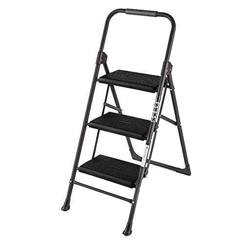 Escabeau d'escalier en métal de ménage Tabouret d'escalier pliant d'escalier en métal Escabeau (Size : 3 step ladder)