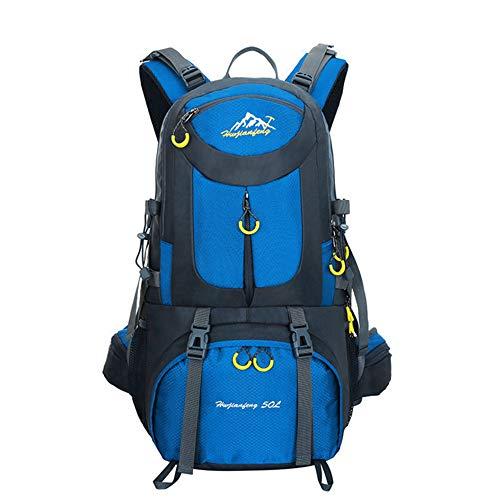 N Shoulder Bolsa de viaje para hombre, impermeable, de gran capacidad, para senderismo, al aire libre, senderismo, ciclismo, viajes, montañismo, deportes al aire libre, azul
