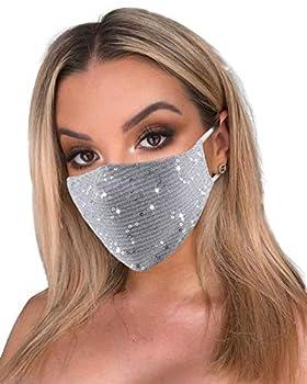 Sparkle Washable Face Mask Christmas Festive Nightclub Masquerade Party Masks for Women Girls