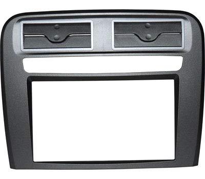 """Mascherina autoradio 2 DIN PURO senza cornice per radio con monitor motorizzato colore ANTRACITE. Vedi""""DESCRIZIONE"""" per compatibilità veicoli."""
