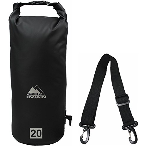 Cox Swain Packsack Defend - Wasserdichter PVC Packbeutel Verschiedene Größen (5L 10L 20L) und Farben, Colour: Black, Size: 10L