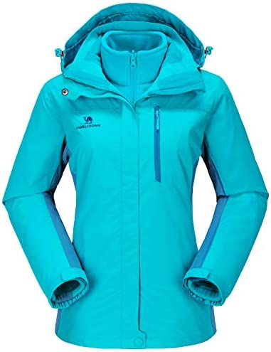 CAMEL CROWN Women s Waterproof Ski Jacket 3 in 1 Winter Coat Windbreaker Fleece Inner for Snow product image