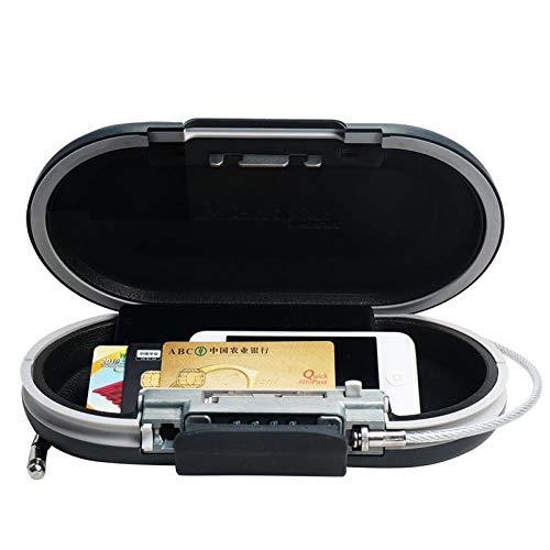 Cassaforte Mini combinazione Portatile Portatile Sicuro Password Blocco gioielli Bancomat Telefono Scatole di immagazzinaggio con cavo metallico Casseforti fisse, n