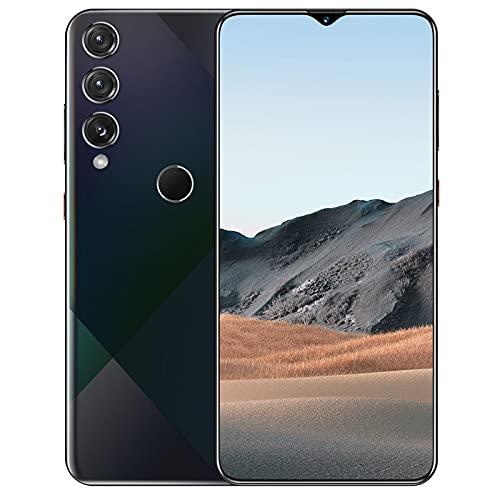 JYSSH M9 Plus Teléfono Móvil 8GB+256GB, Pantalla 7.0' (19.2:9) Water-Drop Screen Movil Barato, 13MP+24MP, 5800mAh Batería, Android 10 Smartphone Libre Dual SIM, GPS/WiFi/Hotspot,Black-EU