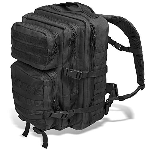 Black Snake US Assault Pack II Damen und Herren Rucksack Outdoor Backpack Schwarz