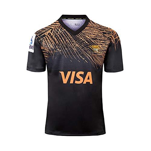 2019 Jaguar Home and Away Rugby-Trikot, Fußball-Trikot, Netz-T-Shirt, Sportbekleidung, Fans, Sweatshirt, personalisierbarer Stoff, Polo-Shirts, 3XL Gr. XXL (185/190 cm), a