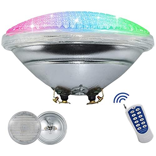 Lampes de piscine à LED - AC 12 V 45 W PAR56 - Ampoule de rechange pour lampe de piscine - Changement de couleur RVB - Étanchéité IP68 - Avec télécommande