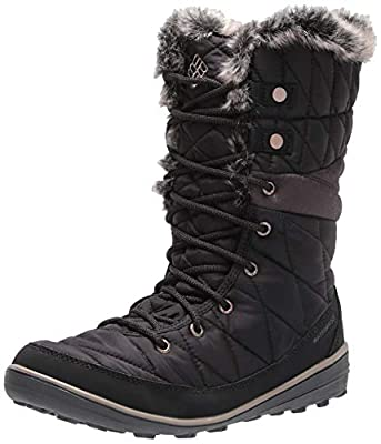 Columbia Women's Heavenly Omni-Heat Snow Boot, Black, Kettle, 9.5