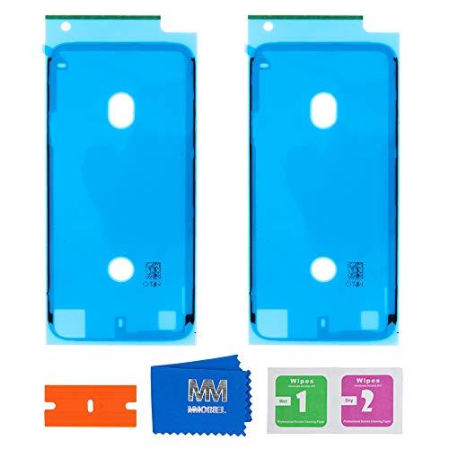 MMOBIEL 2X wasserdichte Folie Klebefolie LCD Display Adhesive Sticker Kompatibel mit iPhone 7 4.7inch (Weiß)