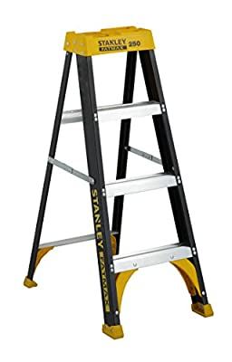 Stanley SXL2110-06 Aluminum Step Ladder Type I, 250-Pound Load Capacity, 6-Foot, with Multi-Functional Top
