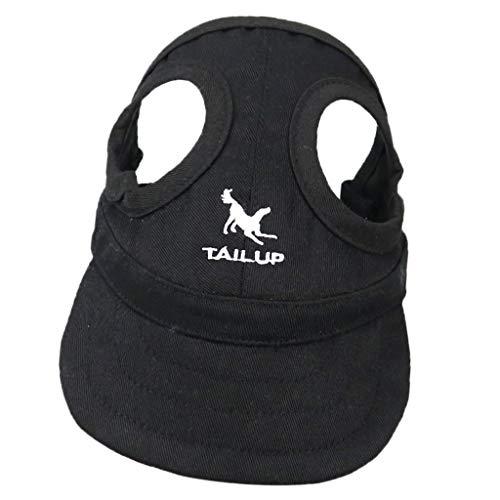 perfk Haustier Baseballmütze Sonnenhut Baseball Cap Mütze Kappe für kleine bis große Hunde - Schwarz, S