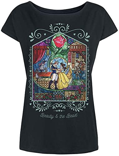 La Bella y La Bestia Rose Mujer Camiseta...