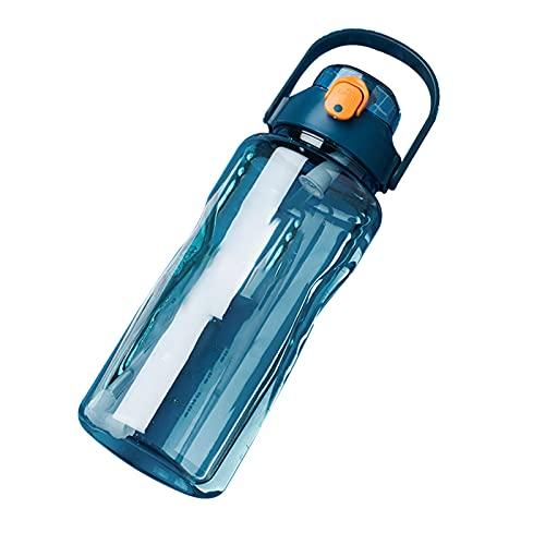 Botella de Agua, 2L Botella de Agua Deportes Copa Camping Gimnasio de Gran Capacidad Al Aire Libre, Sin BPA, Botellas de Agua a Prueba de Fugas para Gimnasio Botella de Agua Potable Portátil