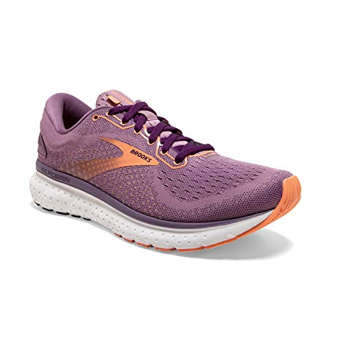 Brooks Womens Glycerin 18 Running Shoe - Valerian/Jewel/Cantaloupe - B - 11