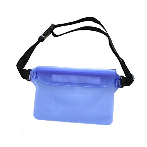 Pochette imperméable unisexe Fanny Pack taille sac pour plage/piscine/Randonnée – Bleu