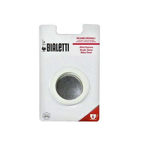 Bialetti 0800004 Aluminium-Mikrofilter Pour Cafetière-Facetten, 3 Verbindungen, 6 Tassen
