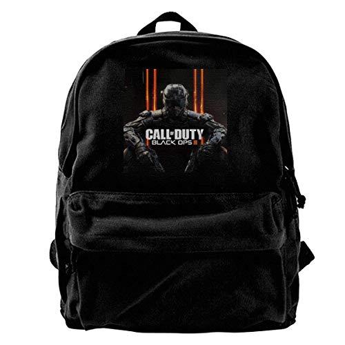 Sac à dos Call of Duty Black Ops 4 en toile pour ordinateur portable de gym, de randonnée, sac à bandoulière pour homme et femme