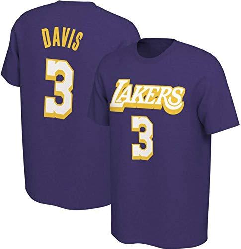 XH-CHEN Baloncesto Camiseta de los Hombres, de la NBA Los Angeles Lakers # 3 Anthony Davis Jersey Retro Ocasional cómodo Formación de Baloncesto Superior,A,XXL:180~185cm