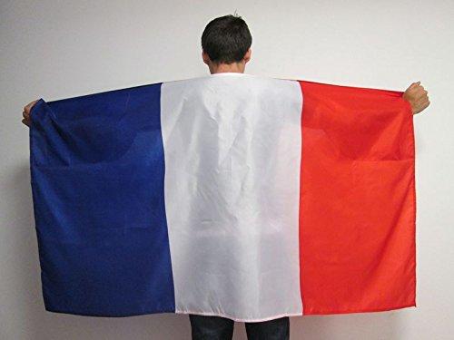 AZ FLAG UMHANGFLAGGE Frankreich 150x90cm - FRANZÖSISCHE Cape Fahne 90 x 150 cm - flaggen