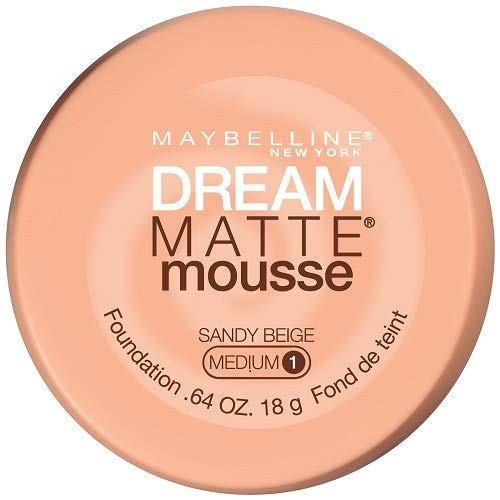 Maybelline New York Dream Matte Mousse Foundation, Sandy Beige, 0.64 Ounce, Packaging May Vary