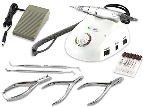Elektrisches Fußpflegegerät Fräser Set Pediküre Set mit Fußpflege Set Nagelzange
