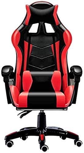 Sillas de Oficina Sillas de Oficina Silla de Escritorio de Gaming High Back con función de reclinación Ergonómica Silla giratoria Silla de Altura Ajustable (Color : Red)