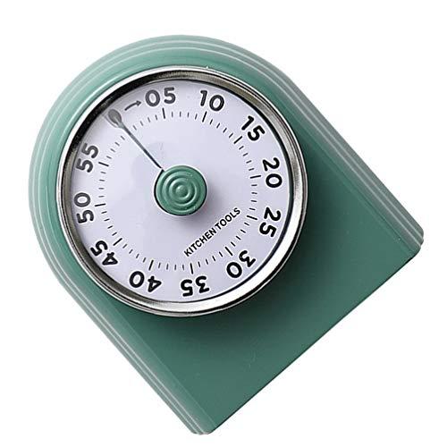 Hemoton Temporizador de cocina mecánico imán nevera cocina hervidor temporizador recordatorio cuenta atrás temporizador alarma manager decoración del hogar verde