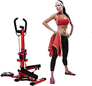 Scizor Mini-Stepper Swing Stepper Multifunctional Stepping Machine with Handle Bar Weight Loss Twist Stair Stepper Home Fi...