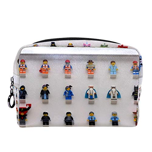 Makeup Bag ,Toiletry Bags for Women Watercolor FramesForBricks.co.UK Cosmetic Handy Pouch Zipper Handbag.