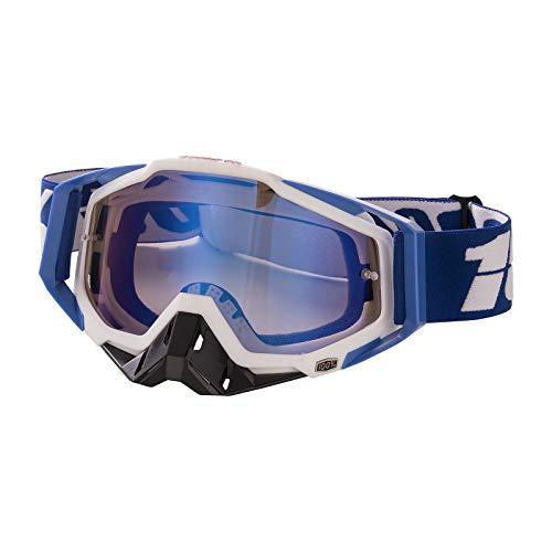 Gafas de Motocross Antivaho Gafas de Moto para Motocicleta Gafas de Esquí Anti UV Anti Viento Anti Polvo con Correa Ajustable Gafas Deportivas de Protección para Dirt Bike Racing MTB Snowboard, H