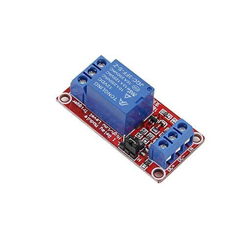 1-Kanal-Relaismodul, 5-V-Relaismodul für Trigger-Erweiterungsplatine mit niedrigem Pegel und Optokoppler für Raspberry PI (1 Stück)